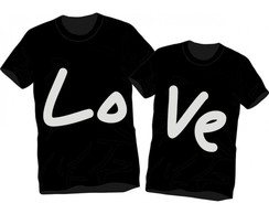 Kit 2 Camisetas Namorados Love Casal