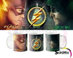 Caneca The Flash e Arrow