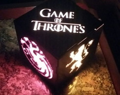 Luminaria Game Of Thrones em mdf