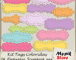 Kit Digital Tags Scrapbook - 04
