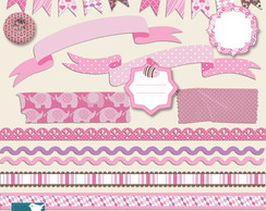 Kit Digital Fitas Tags Scrapbook - 05