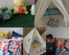 Cabana para Festa do Pijama Pokemon