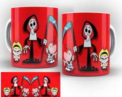 caneca as aventuras de billy e mandy 03