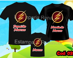 Kit Camiseta Aniversario Flash c/3 Preta