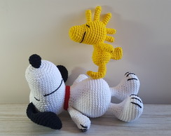 Kit Snoopy e Woodstock em Croche