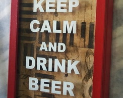 QUADRO KEEP CALM BEER