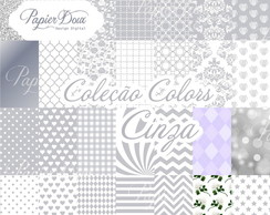 Kit Digital Papers Cinza Prata