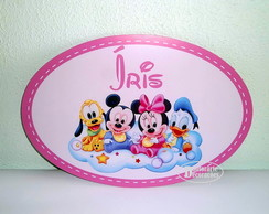 PLACA PERSONALIZADA TURMA DISPLAY BABY