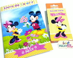 Mini Kit de Colorir - Mickey e Minnie
