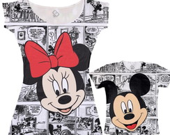 Kit Vestido e Camiseta Mickey