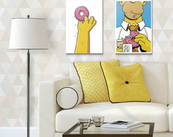 Kit Quadro Decorativo - Homer