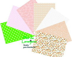 Kit Tecidos Rosa Rosita Patch 25x35cm