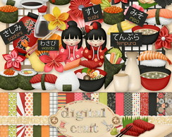 Kit Scrapbook Digital - Oriental I
