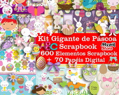 Kit digital Páscoa Scrapbook
