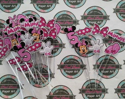 Topper de doces minnie rosa