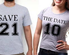 Camiseta 2 Unid Casal Save The Date...