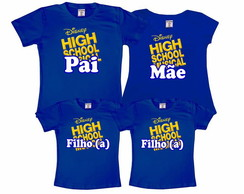 Kit 4 Camisetas High School Musical