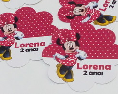 Tag/topper/aplique Minnie 3,5cm