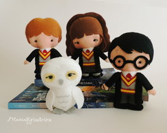 Harry, Rony, Hermione e Edwiges
