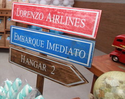 Placa madeira pallet 3 msg + haste+ base