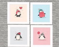 Kit quadro pinguins