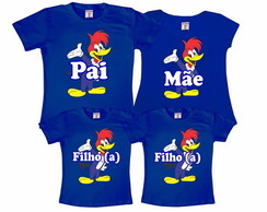 Kit 4 Camisetas Pica-Pau