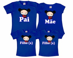 Kit 4 Camisetas Pucca