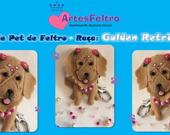 Molde Pet em Feltro - Golden Retriever