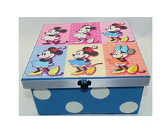 Caixa Minnie Pop Art