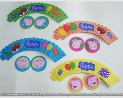 WRAPPERS PEPPA COM ENFEITE- 12UN