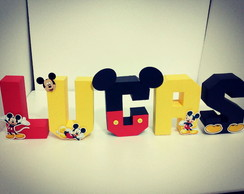 Letras 3D Mickey Mouse