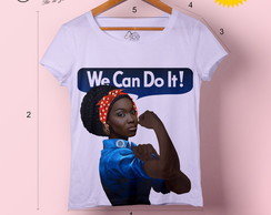 T-shirt feminina We Can Do It!
