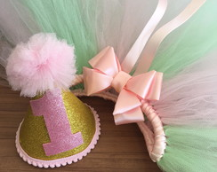 Kit Smash the cake verde e rosa