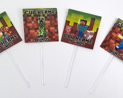 Toppers personalizados Minecraft