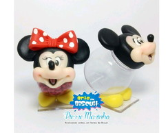 Baleiro do Mickey e Minnie em biscuit