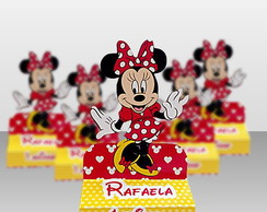 Caixa Porta Chocolate Minnie Vermelha