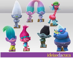 Displays em MDF Festa Mini Totens Trolls