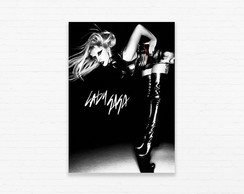 Quadrinho 19x27 Lady Gaga - Leather