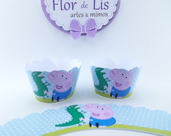 Wrapper Mini (Saia Cupcake) George Pig