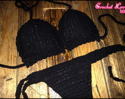 BIQUÍNI CROCHET LOVE BLACK