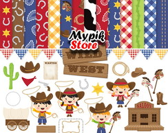 Kit Papel Digital Cowboy - 45