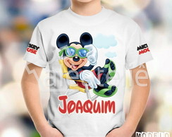 Camisa Mickey Mouse Personalizada