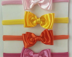 Kit 4 headbands baby-meia de seda