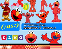 Kit Digital Scrapbook - Elmo