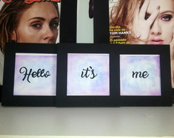 Quadro triplo Hello it's me - Adele