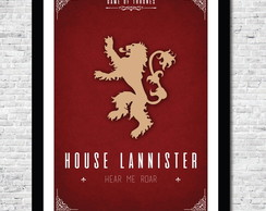 Pôster A4 Game of Thrones Lannister