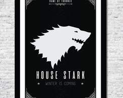 Pôster Game of Thrones House Stark - Arte Digital A4