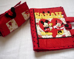 Kit capa de caderno da minnie