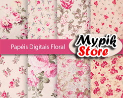 Papel Digital Floral - 47