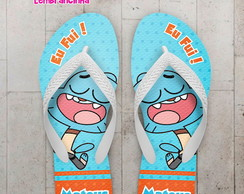 Chinelo Personalizado Infantil Gumball